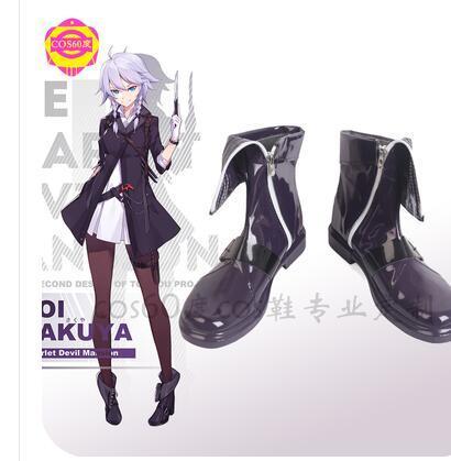 Touhou Project Flandre escarlata Izayoi Sakuya Cosplay zapatos, botas carnaval fiesta de...