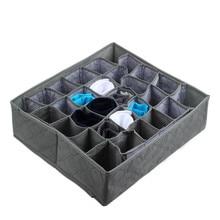 Forpliable organisateur de placard à tiroir   30 cellules, bambou charbon de bois, cravates, chaussettes, organisateur de tiroir, boîte de rangement Gary