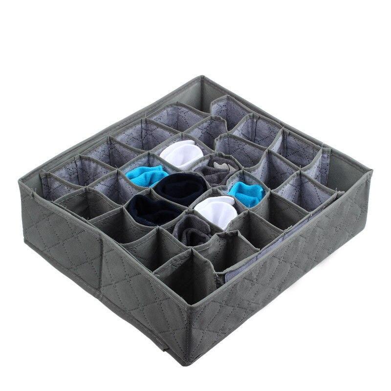 Fordable 30 ячеек бамбуковый уголь Галстуки Носки ящик шкаф Органайзер Ящик органайзеры коробка для хранения Гари