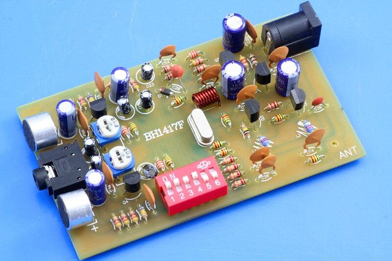 Rádio transmissor fm digital players estação 0.1 w pll estéreo bh1417f kit
