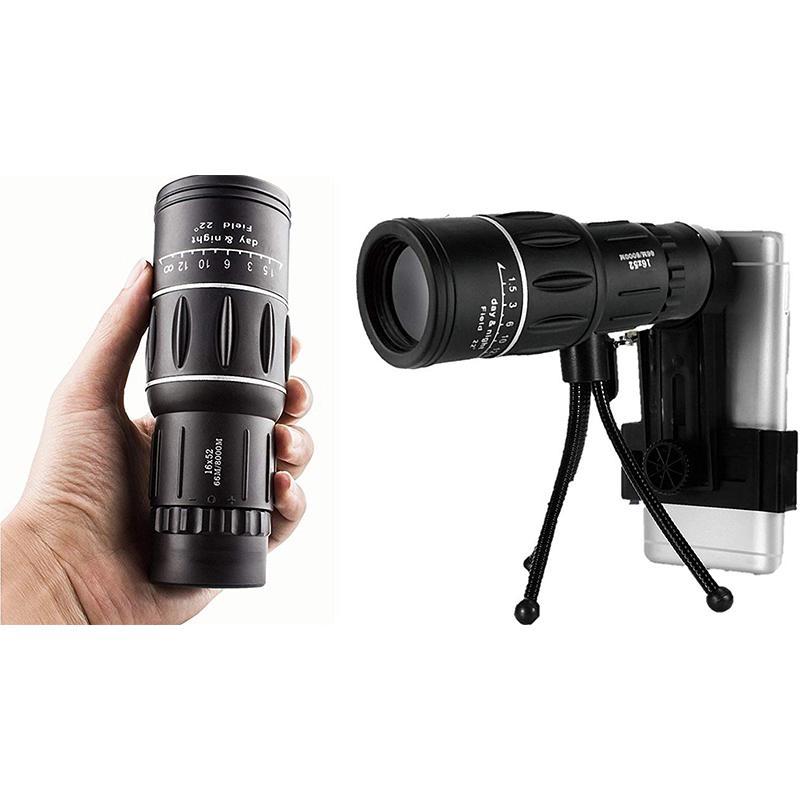 HD Monocular potente telescopio senderismo Lll visión nocturna binoculares para avistamiento de aves HD lente óptica Zoom de alta ampliación