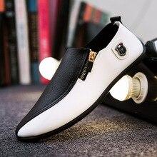 AlexBu automne homme chaussures en cuir hommes daffaires bureau robe chaussures homme mocassins décontractés chaussure mixte couleur conduite chaussures de haute qualité
