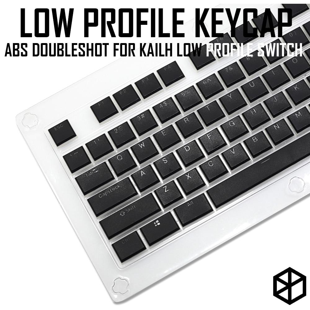 Kailh choc-مجموعة مفاتيح منخفضة المستوى ، لـ kailh low profile swtich abs ، doubleshot ، نحيف للغاية ، أبيض ، بني ، أحمر