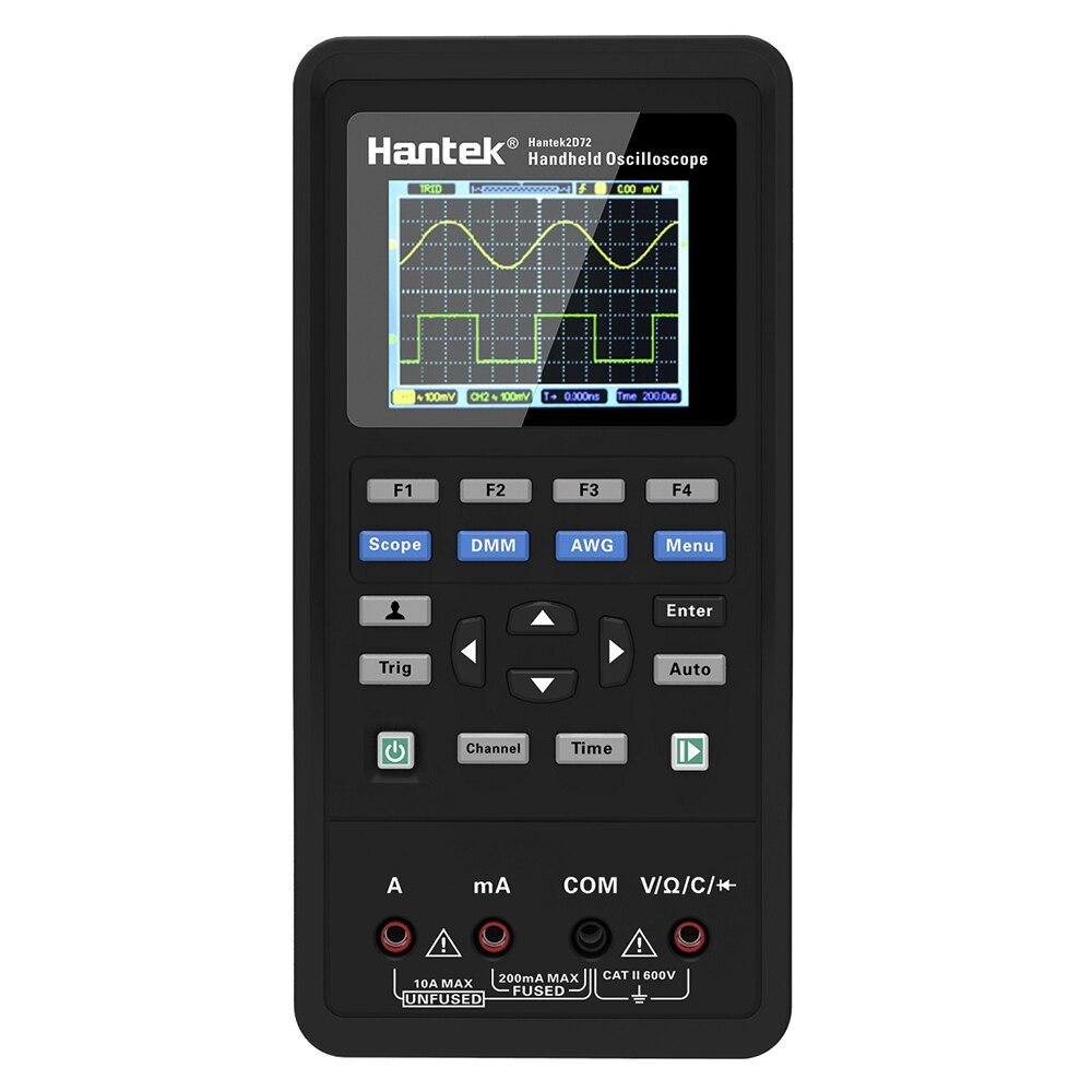 Hantek osciloscopio Digital portátil generador de formas de onda multímetro de doble canal 2 canales USB Scopemeter medidor de alcance portátil