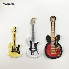 Значок гитары панк Рок гитарная полоса патчи креативные значки для ткани панк удивительные вышитые патч аппликация «сделай сам» наклейки