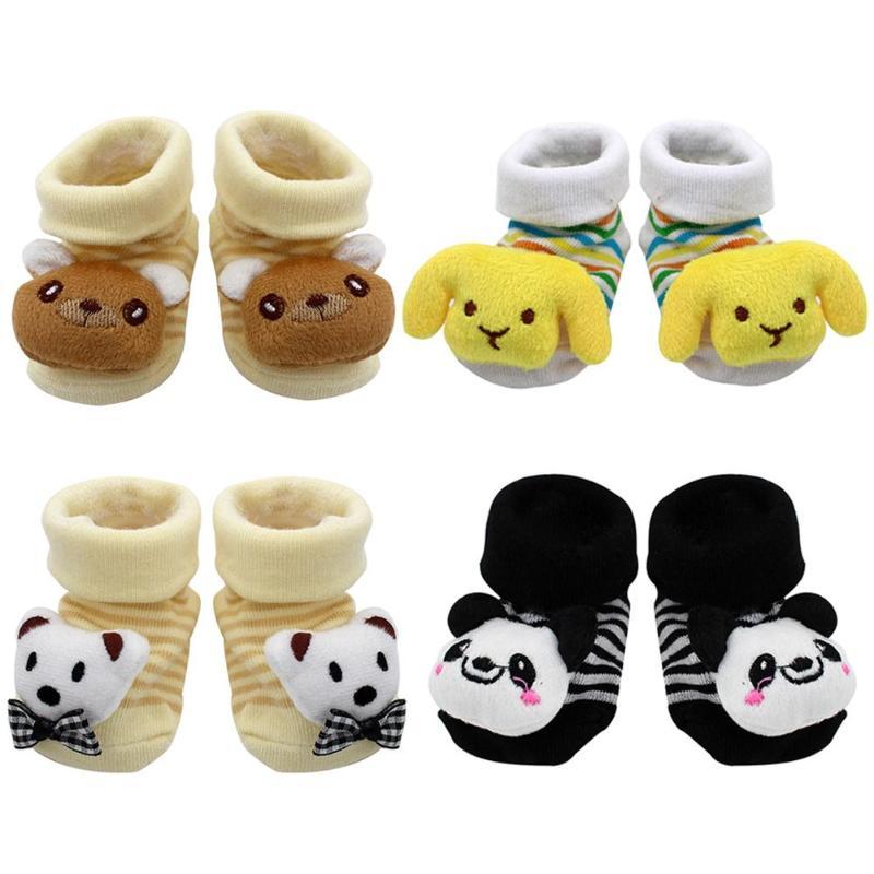 Cartoon Children's 3D Pattern Socks Cotton Baby Floor Socks Non Slip Socks Children's Socks Children's Clothing Sports Suit