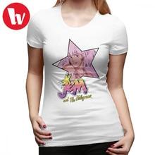 Camiseta de Madonna Jem And The hologramos Star Cute Kawaii, camiseta gráfica de calle para mujer, camiseta divertida para mujer