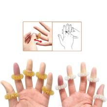 10Pcs Finger Massage Ring Akupunktur therapie fördern Hand Durchblutung Schmerzen Relief Massager Zehn Stress Relief verlieren Gewicht