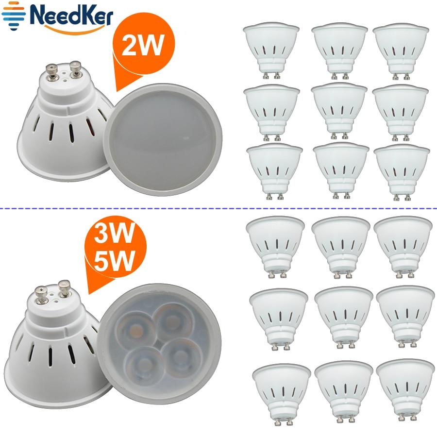 Needker lâmpada led gu10 g5.3 lâmpada led 2 w 3 5 9 12 15 ac 110 v 220 v lampada led condensador luz cob spotlight poupança de energia