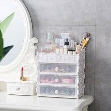 Tiroir plastique à cosmétiques   Conteneur organiseur de maquillage pour le rangement des bijoux, porte-ongles produits divers de bureau à domicile