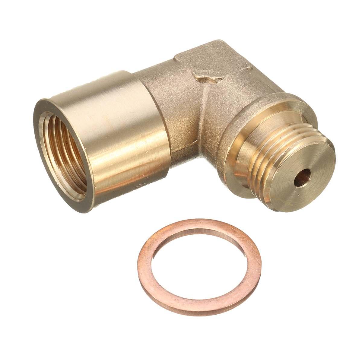 M18X1.5 O2 Angled Oxygen Sensor Lambda Extension Spacer Brass For Decat /Hydrogen
