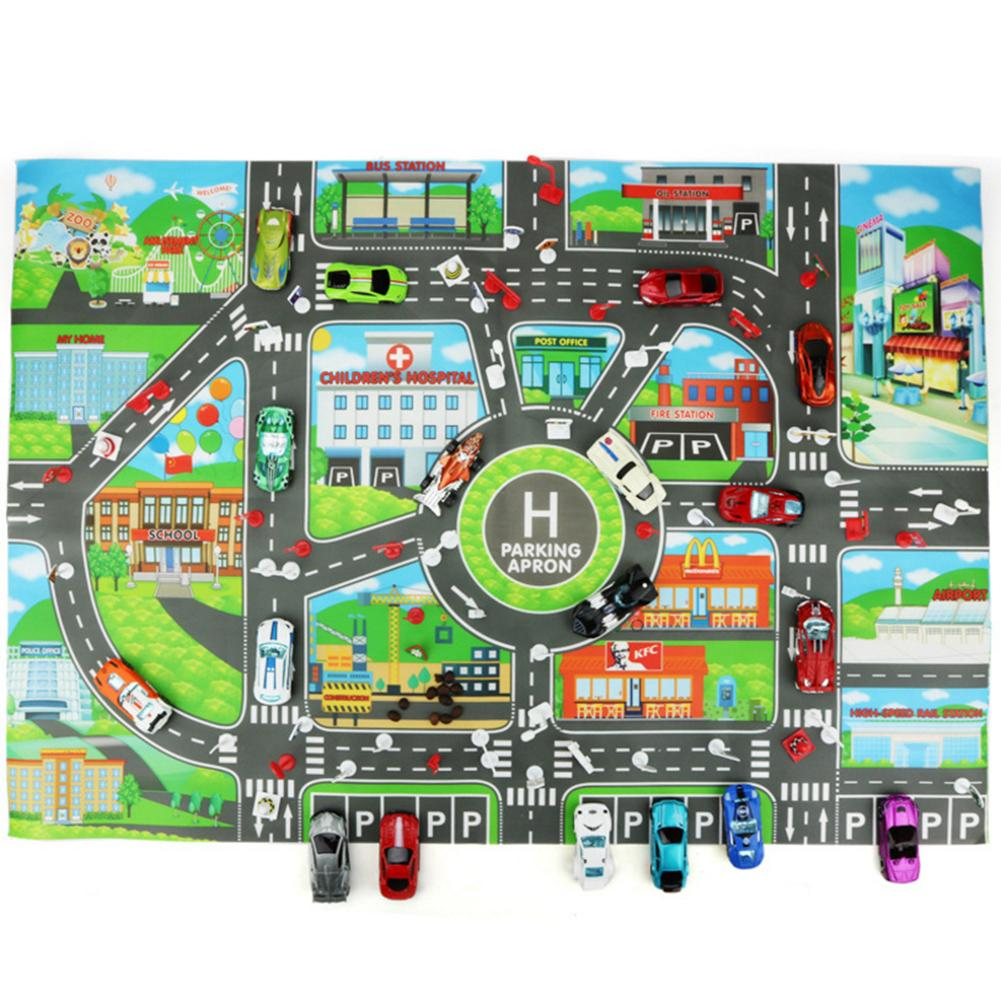 Kinder Spielzeug Auto City Parkplatz Karte Englisch Version Stadt Parkplatz Karte Verkehrs Karte Spielen Matte