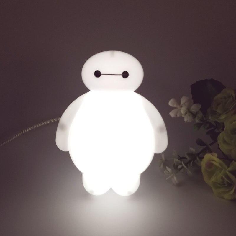 Changing Big Hero 6 Cartoon Baymax Led Night Light Table Desk Lamp Bedroom Decoration Amazing Kids Baby Toy Gift