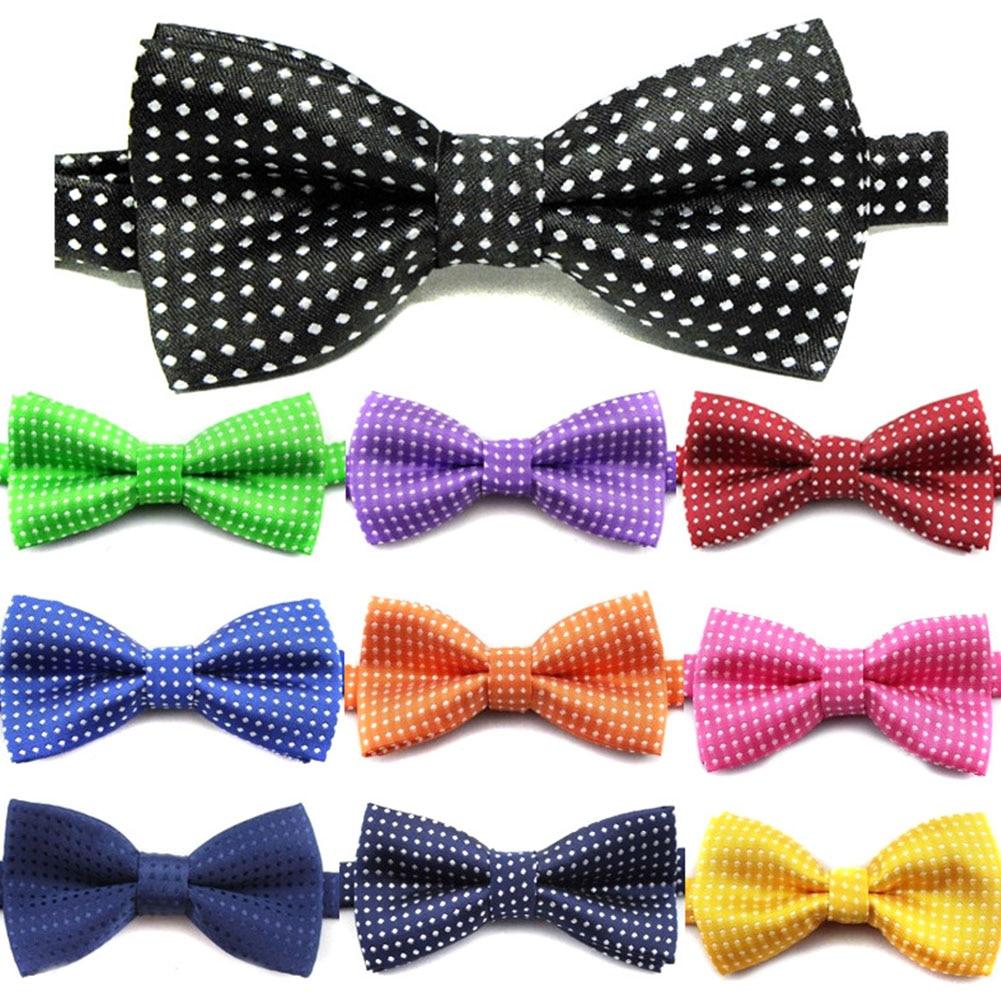 Pajarita de algodón Formal a la moda para niños Pajarita clásica con puntos pajarita colorida mariposa pajarita de fiesta para boda corbatas de esmoquin