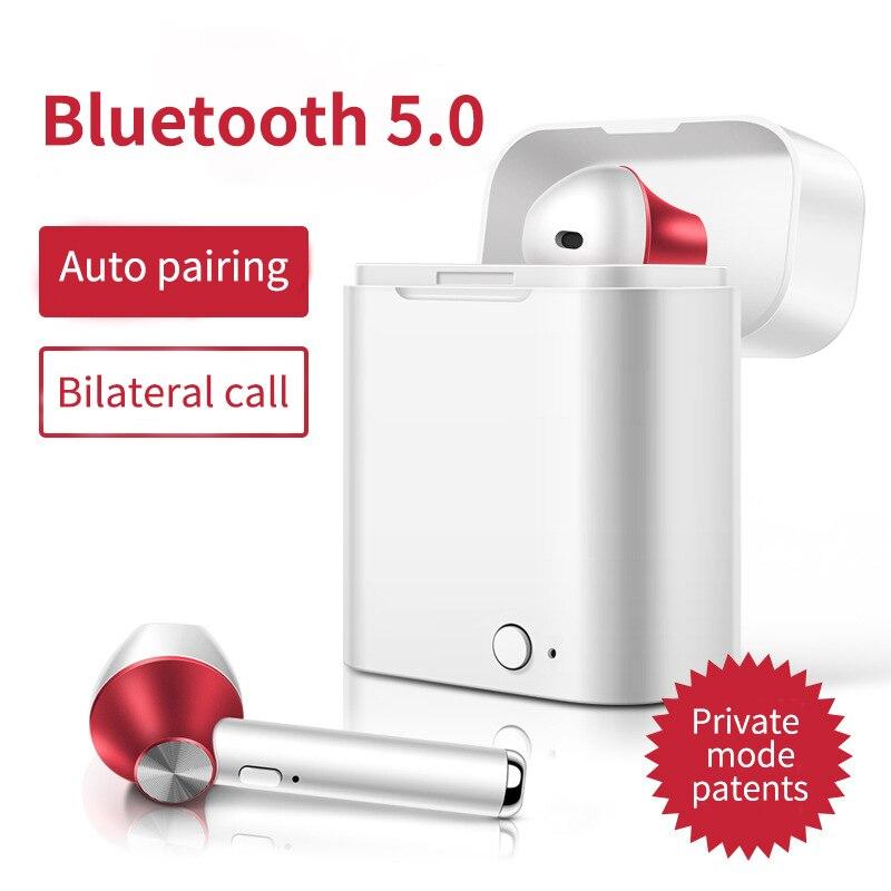 TWS Mini auriculares inalámbricos Bluetooth V5.0 auriculares estéreo 3D auriculares con caja de carga Mic para Iphone Xiaomi todos los teléfonos inteligentes