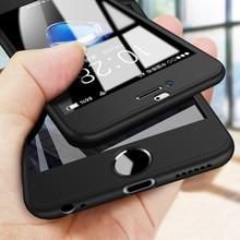 360 couverture complète téléphone étui pour iPhone X 8 6 6s 7plus 5 5s SE PC housse de protection pour iPhone 7 8plus XS MAX XR étui avec verre