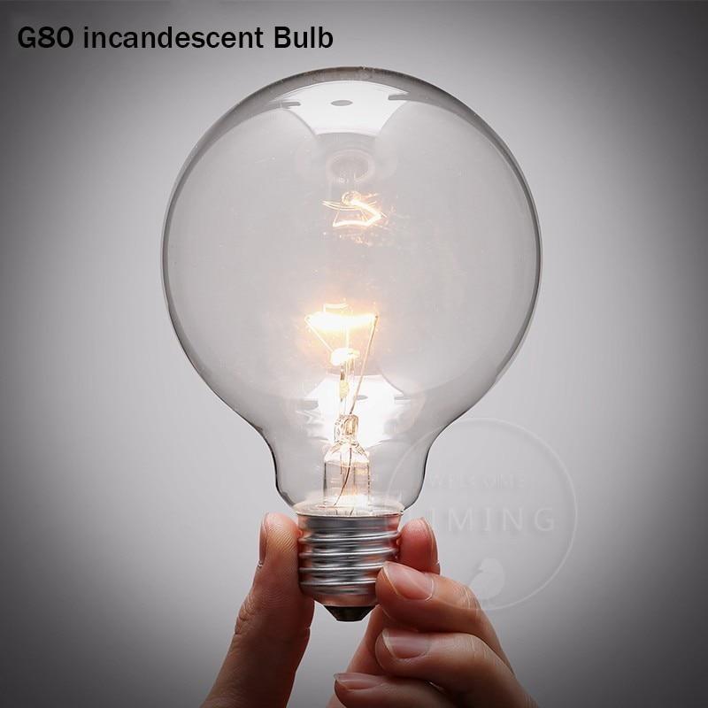 Retro Edison Light Bulbs E27 220V 40W G80 G95 Filament Vintage Ampoule Incandescent Bulb Lamp Of Edison Gloeilamp