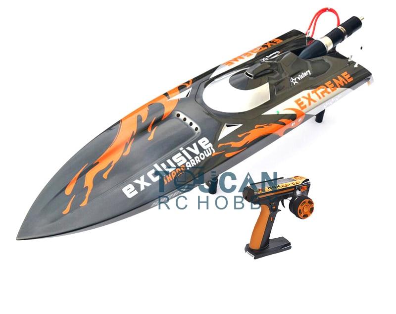 G30D ARTR-RC en fiber de verre RC monocoque bateau 30CC moteur RadioSys gris avec des flammes Orange THZH0069