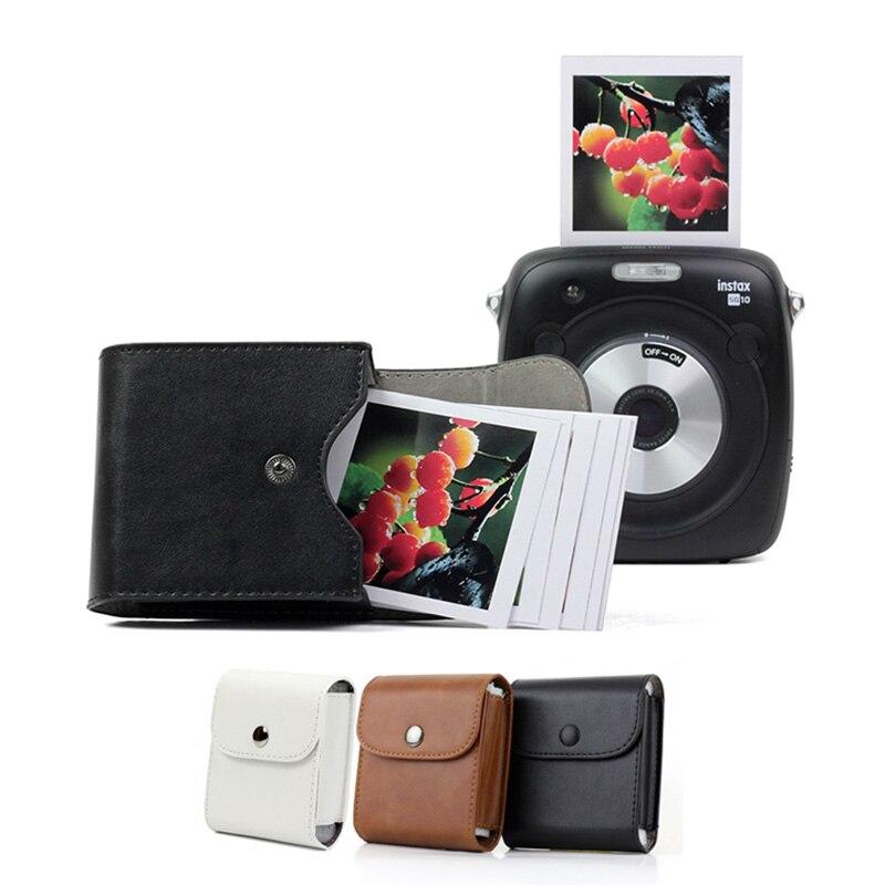 Bolsa de almacenamiento para cámara Fujifilm Instax Mini 9, funda Retro de cuero, bolsa de botón para fotos, funda para cámara Fujifilm Mini 8 SQ10 SQ6 SQ20 SP3