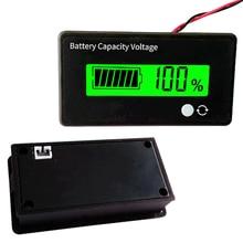 1 pc LCD acide plomb batterie au Lithium indicateur de capacité voltmètre testeur de tension 8-70 V