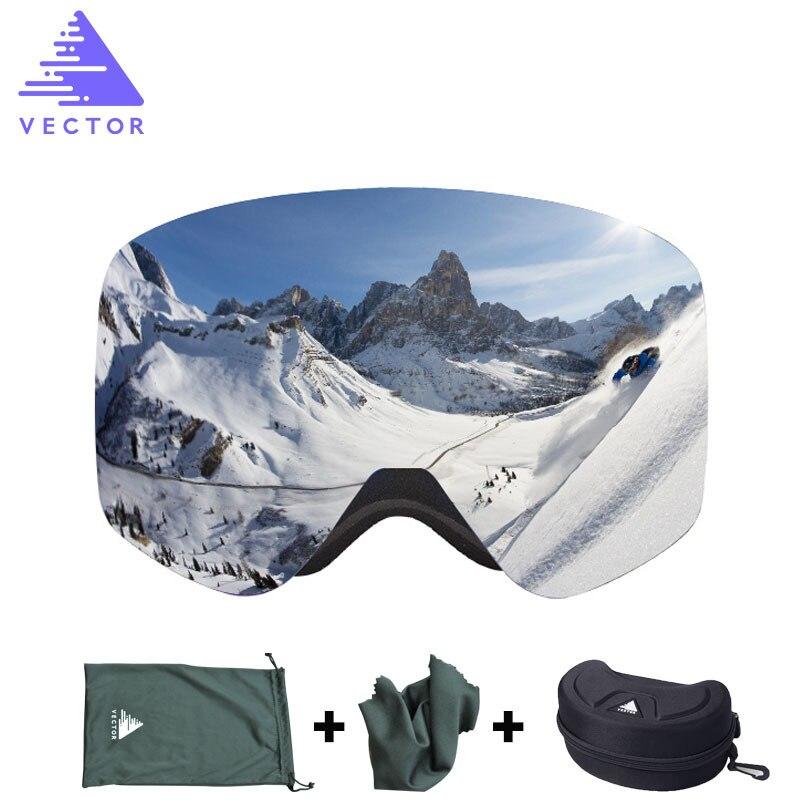 Gafas de esquí OTG UV400, gafas de nieve y estuche para hombres y mujeres, revestimientos antiniebla, monopatín, Snowboard, gafas de sol para esquí, deportes de invierno al aire libre
