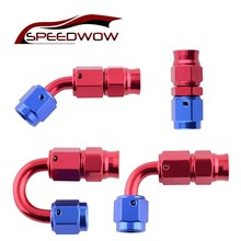 SPEEDWOW AN3 adaptateur fin de tuyau en PTFE   Tuyau pivotant en aluminium lisse/45-90/180 degrés adaptateur pour tuyau de ligne de carburant en PTFE