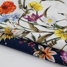 농촌 바람 꽃 꽃 반응 염색 순수 코튼 원단 드레스 셔츠 tissus au 미터 tissu telas tecido 초라한 세련된 diy