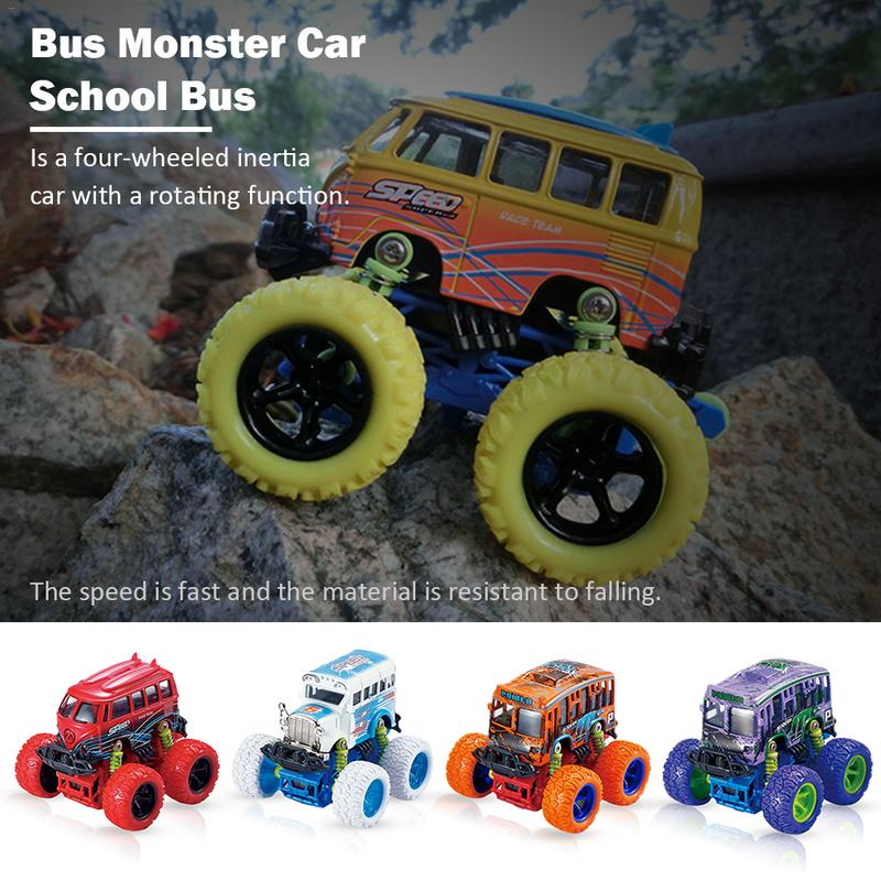 Bus Monster School Car Alloy Child Inertia Toy Boy Fall Resistance Bigfoot SUV Car Anti-fall Classic Childrens Toy Mini Truck