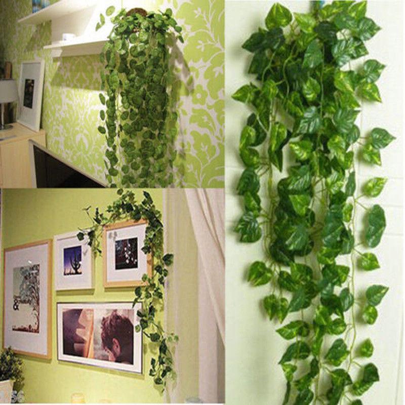 1 stks Kunstmatige Broek Vine Ivy Leaf Garland Planten Vine Gebladerte Home Party Garden Decor Voor Thuis Opknoping Decoratie