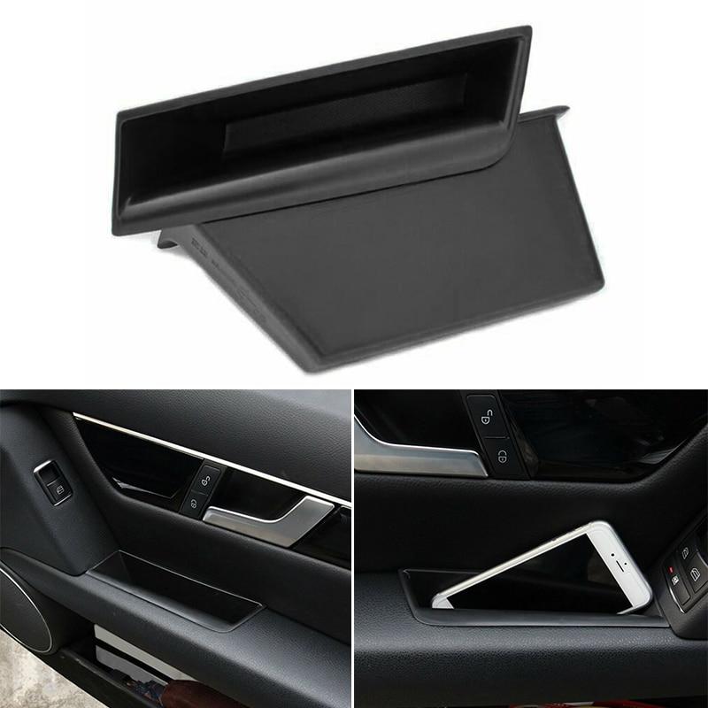 1 пара ящик для хранения в подлокотнике автомобиля для Mercedes Benz c-класс W204 C180 C250 C350 2008-2014 органайзер для хранения передней двери