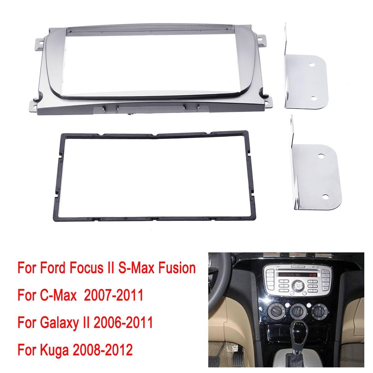2 Din автомобильный стерео радио фасции рама пластины панели комплект для FORD для Focus II Mondeo S-Max C-Max Galaxy II Kuga