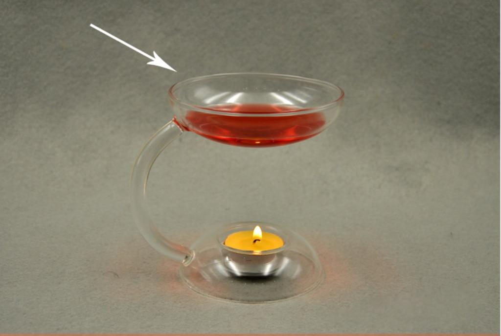 Candelabro de cristal transparente candelabro soporte quemador de aceite aromático calentador difusor estufa
