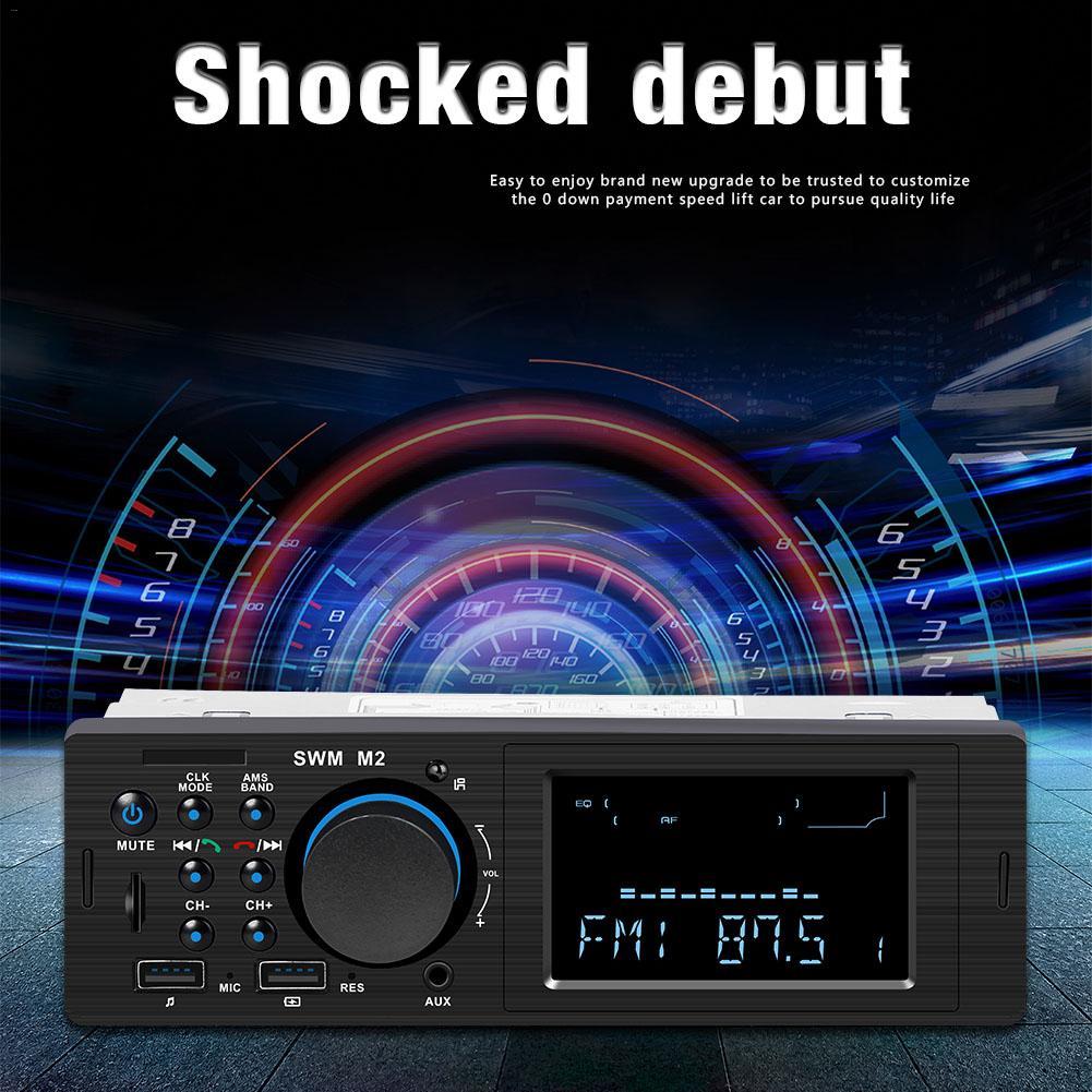 Estéreo de coche MP3 reproductor de música FM Bluetooth USB TF AUX Radio de coche Radio tarjeta de memoria leer U disco (audio)
