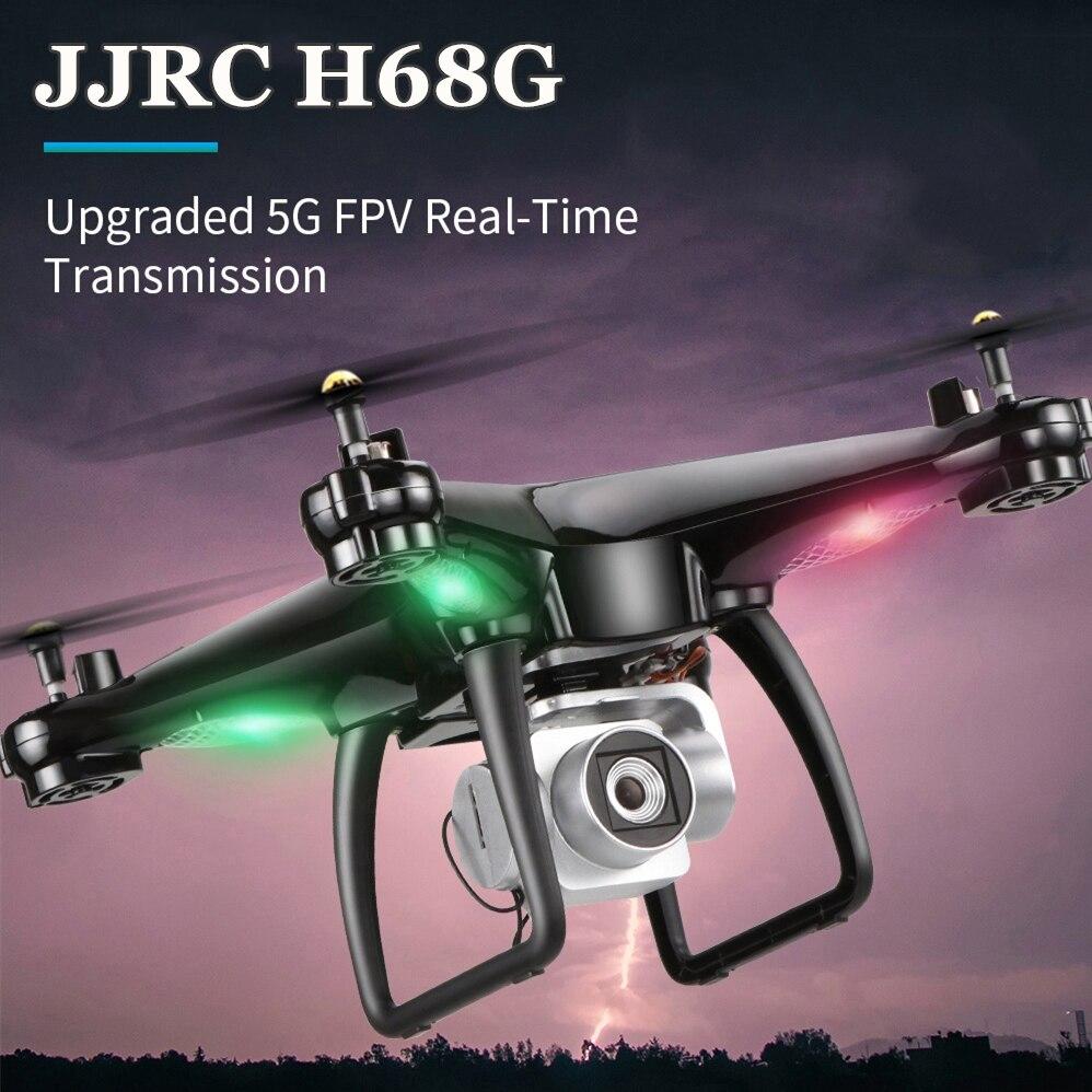 JJRC H68G GPS doble Drone con HD 1080P Cámara 5G Wifi FPV RC helicóptero brújula RTF Waypoint UAV con luz