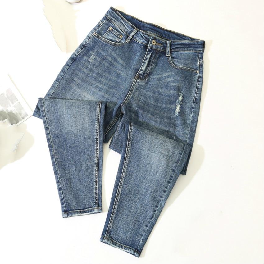 Ripped Jeans For Women Vintage Casual Harem Denim Pants Women's High Waist Boyfriend Jean Female Loose Trousers Plus Size 5XL