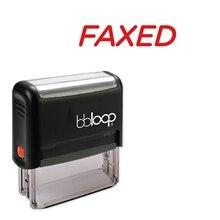 Bbloop fax w/italique   Style rond, police et Design auto-encre