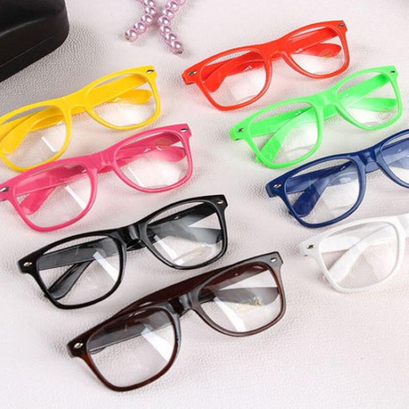 Mayitr, 1 pieza, gafas claras de moda nerd claras, lentes Geek, 16 colores, espejo liso, lentes de marco completo de plástico, gafas