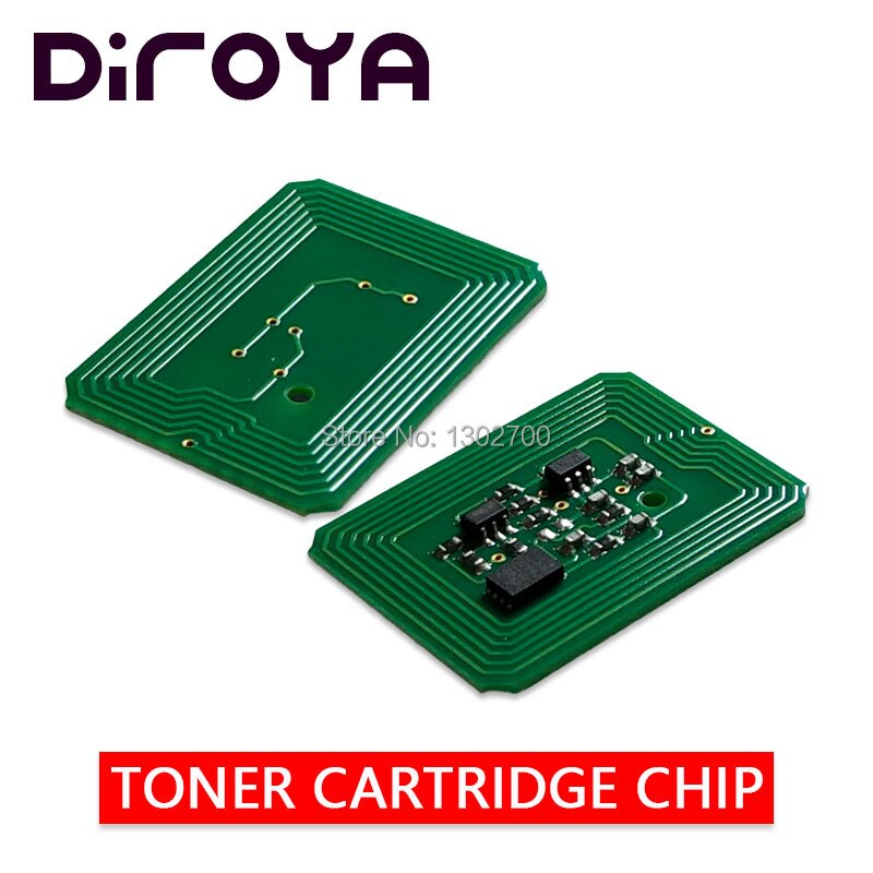 20 piezas 44318612, 44318611, 44318610, 44318609 chip de cartucho de tóner para OKI C710 C 710 de C711 okidata impresora de color polvo recarga restablecer