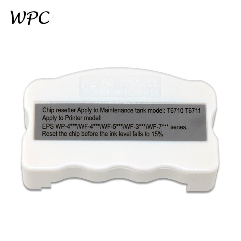 T6710 Maintenance Ink Tank chip resetter for Epson WP-4515 WP-4020 WP-4520 WP-4530 WP-4533 WP-4590 WF-5111 PX-B750F B700 PX-675F недорого