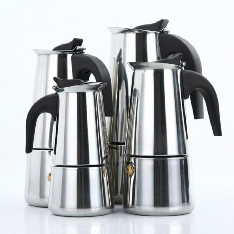 Moka Espresso Coffee Maker Pot Stovetop Filter Percolator Latte Piano Cottura Filtro Coffee Machine Coffee Cafetiere Maker