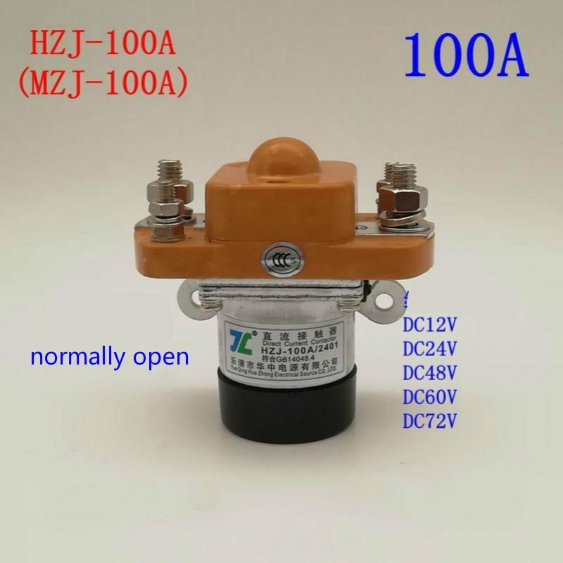 DC قواطع MZJ-100A (عادة فتح) عالية الطاقة 100Arelay 12V 24V 48V