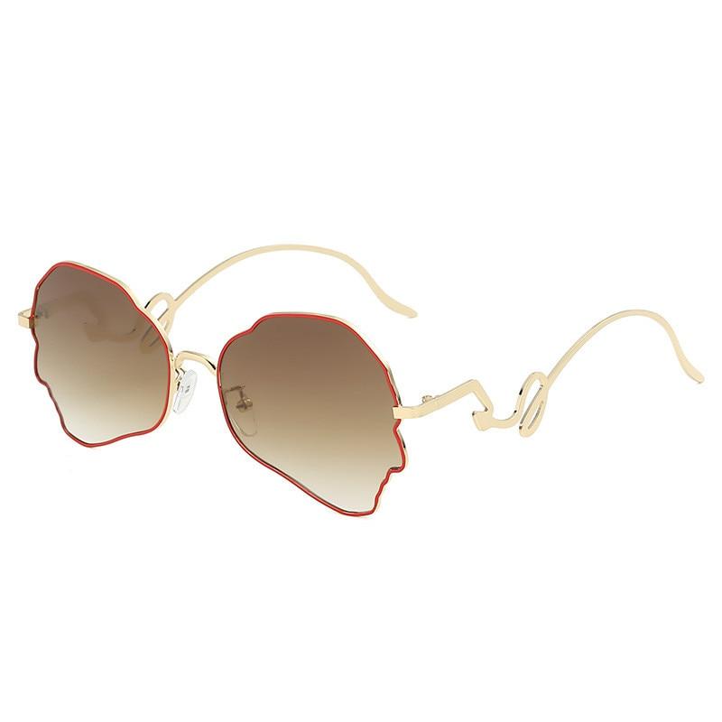 Imwete Irregular Sunglasses Women 2020 Classic Gradient Sun Glasses Ladies UV400 Vintage Brand Designer Flower Sunglass female