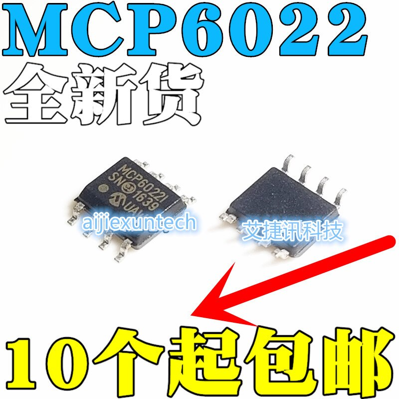 10Pcs 100% New and original MCP6022-I/SN MCP6022I  in stock