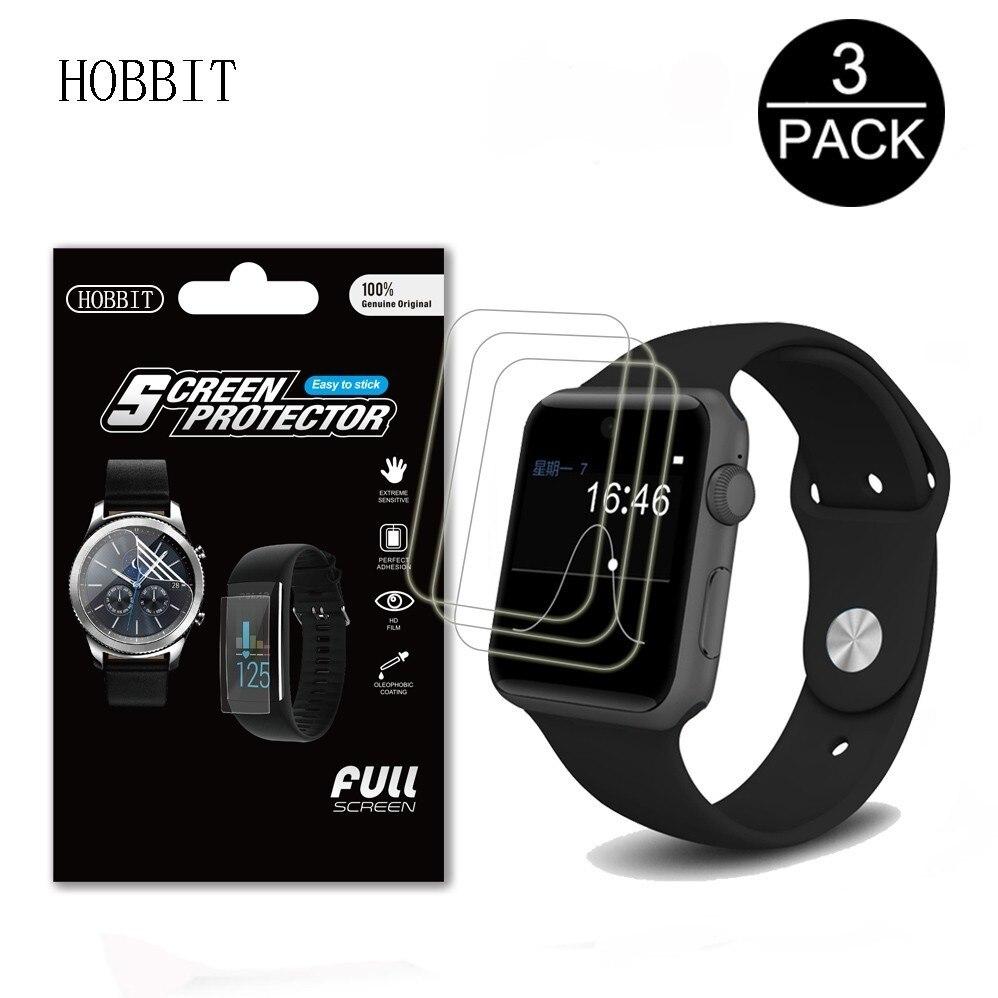 Paquet de 3 pour LEMFO LF07 montre intelligente protecteur décran anti-rayures anti-bulles GPS 4G Smartwatch LCD Film de Protection pour lemfo