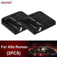 rovfng led car door light logo projector ghost x for alfa romeo giulietta 147 156 159 gt mito 146 166 giulia 145 spider