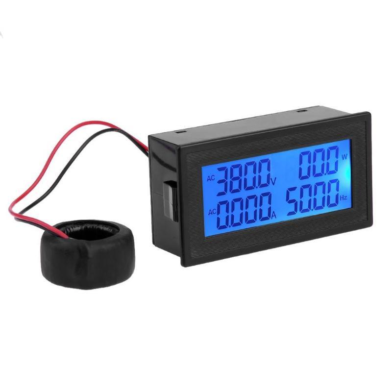 Digital AC Voltage Meters 100A/60-500V Power Energy analog Voltmeter Ammeter watt current Amps Volt meter LCD Panel Monitor