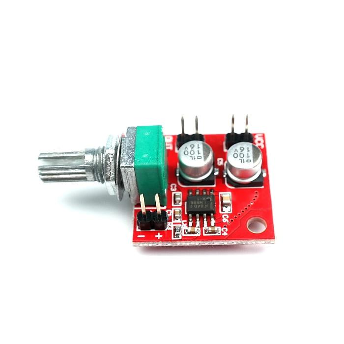 Placa amplificadora de potencia LM386 Electret micrófono ganancia 200 veces DC 3,7 V ~ 12V auriculares