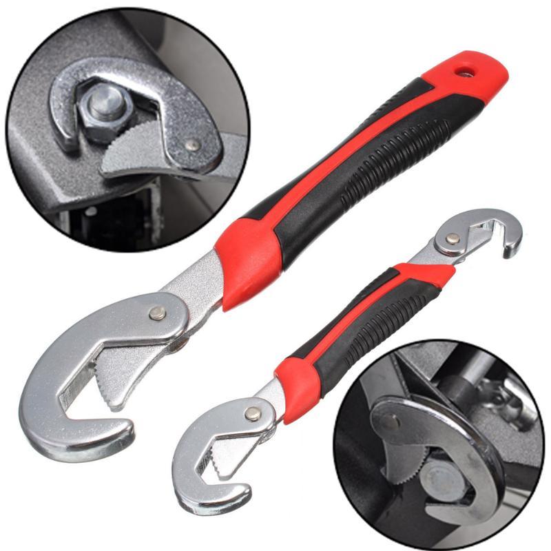 Juego de 2 uds de llaves de agarre de ajuste rápido Universal multifunción Juego de llaves de trinquete de 9-32mm herramientas de mano