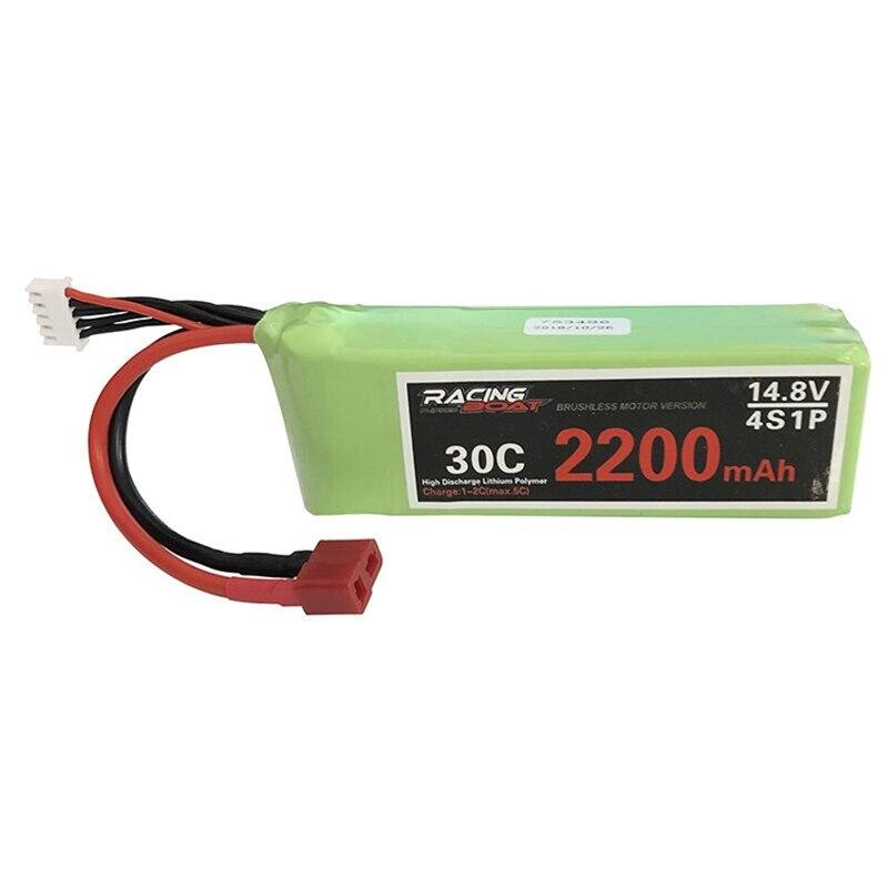 Feilun 14,8 V 2200mAh 30C 4S1P Lipo batería T enchufe para FT011 2,4G sin escobillas Rc barco partes