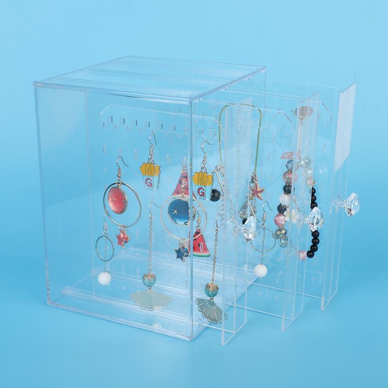 Expositor acrílico para joyería, hermoso, a la moda, para pendientes, organizador transparente para joyería